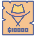Cowboy Criminal Wanted Icon