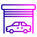 Warehouse Parking Car Icon