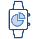 Data Analytics Watch Chart Icon