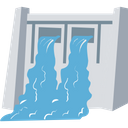 Water Dam Hydropower Waterfall Icon