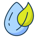 Water Drop Organic Herbal Icon