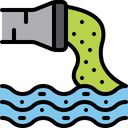 Water Pollution Chemical Line Chemicals Icon