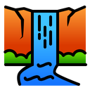 Waterfall River View Icon