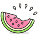 Watermelon Bite Fruit Icon
