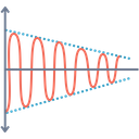 Wave Science Electromagnetic Icon