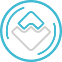 Waves Cryptocurrency Crypto Icon
