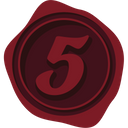 Wax seal number 5 Icon