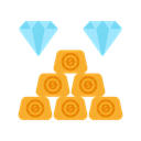 Wealth Gold Bricks Gold Brick Icon