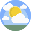 Weather Sunny Cloud Icon