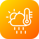 Cloud Sun Temprature Icon