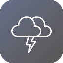 Thunder Cloud Clouds Icon