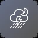 Thunder Cloud Rain Icon