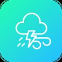 Thunder Lightningwind Cloudy Icon