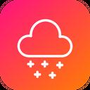 Thunder Snow Cloud Icon