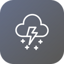 Thunder Snow Wind Icon