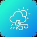 Thunder Sun Wind Icon