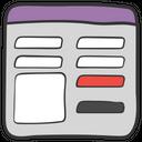 Ui Ux Web Layout Icon