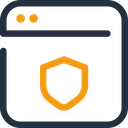 Web Shield Web Security Web Protection Icon