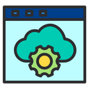 Web Storage Optimization Icon