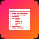 Website Webpage Coding Icon