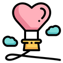 Balloon Love And Romance Valentines Day Icon