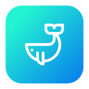 Whale Sea Animal Icon