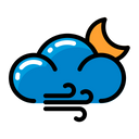 Weather Wind Moon Icon