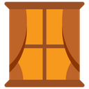 Window Curtains Interior Icon