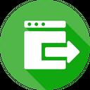 Window Export Arrow Icon
