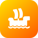 Windsurfing Boat Ship Icon