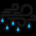 Windy Weather Rainy Weather Wind Icon