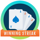 Winning Streak Badge Poker Reward Marker Icon