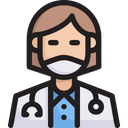 Woman Doctor Icon