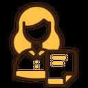 Woman Employee User Businessman Worker Icon