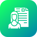 Woman Lady Resume Icon