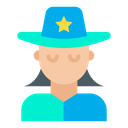 Woman Sheriff Hat Icon
