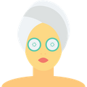 Women Face Facial Treatment Beauty Care Icon