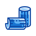 Filled Line Lumber Timber Icon