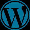 Wordpress Blue Logo Icon