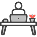 Work From Home Online Working Freelance Icon