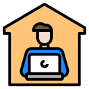 House Work Stay At Home Icon