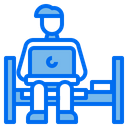 Man Working Stay At Home Icon