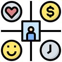 Work Life Balance Management Happiness Icon