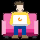 Work On Sofa Icon
