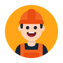Worker Construction Builder Icon
