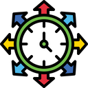 Workflow Management Time Management Working Management Icon