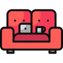 Working Couch Coffee Couch Icon