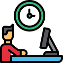 Working Time Working Hour Working Man Icon