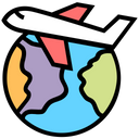 World Airplane Icon