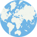 Global Network Planet Worldwide Icon